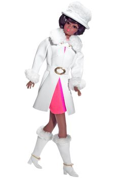 2007 - Vintage Reproductions - Red, White 'n Warm™ Christie® (Barbie® Fan Club Exclusive) #K9140