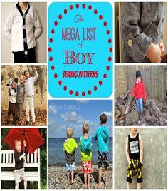 Boy, Oh Boy, Oh Boy Crafts: Mega List of Boy PDF Sewing Patterns