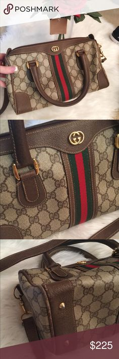 SALE🎉Authentic Gucci Handbag Decent condition. Minor wear on piping. Minor wear on inside as seen in photos. This bag has a detachable strap. Gucci Bags