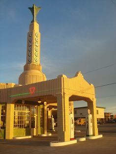 The architectural style and roadside art of Route 66, such as the Tower Conoco Station, are now irrevocably linked to the image of 1950s and 1960s American cool, as all things retro are continually recycled into new and hip.