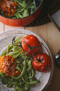 Fresh Spinach Pasta with Carrot Pesto