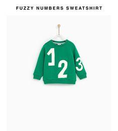 FUZZY NUMBERS SWEATSHIRT Zara United States, Baby Boy, Sporty, Sweatshirts, Boys, Numbers, Fashion, Baby Boys, Moda