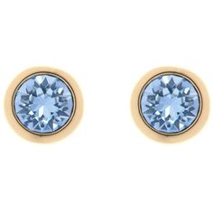 Ted Baker Sina Crystal Stud Earrings, Gold/Sapphire ($22) ❤ liked on Polyvore featuring jewelry, earrings, yellow gold sapphire earrings, sapphire earrings, gold crystal stud earrings, gold colored earrings and sapphire stud earrings