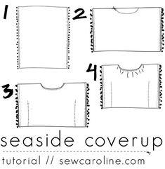Seaside Coverup Tutorial // sewcaroline.com