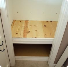 tutorial to make bench in front closet. Just need a mattress for a reading nook and fabric cubes for underneath storage Reading Nook Closet, Closet Nook, Reading Nook Kids, Kid Closet, Closet Shelves, Closet Ideas, Entryway Closet, Closet Fort For Kids, Closet Bench