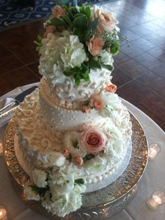 Grand Ballroom Wedding August 2013. MacRay Harbor The Banquet & Events Center. Cake created by Pastry Chef Shelley Hein.