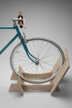 We have created our Bikerax for the design conscious. It not only holds your bikes but it looks like a piece of contempory furniture that should be inside, not hidden in the garage or tucked away in the spare room - via DTLL.