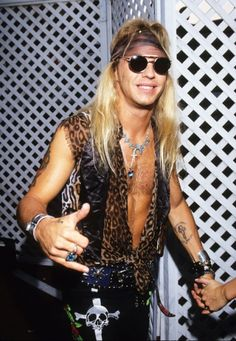 Bret Michaels dresses like the 80s rock star and he looks pretty amazing.