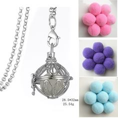 Find More Pendant Necklaces Information about Aroma Perfume Leaf Hollow Locket Design Aromatherapy Essential Oil Diffuser Pom Pom Ball Necklace For Women Gift,High Quality designer necklace,China necklace designer Suppliers, Cheap ball necklace from Winslet&Jean on Aliexpress.com