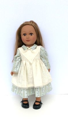 Historic Inspired Doll Dress 18 Inch Doll Dress and Pinafore