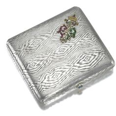 Ferdinand I, Tsar of Bulgaria: A jewelled silver cigarette case, Friedlaender, Berlin, 1908-1917.