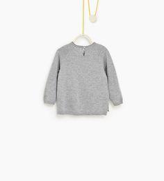 ZARA - DZIECI - Sweter z niedźwiedziem i ptakiem