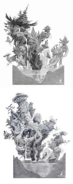Trabalhos de Nicolas Weis para The Croods | THECAB - The Concept Art Blog