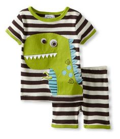 [Bosudhsou] Kids Summer Clothing Set Baby Boy's Clothing Suit Children's Dinosaur/Cow/Tigger/Crab Design T shirts+Casual Shorts Baby Boys, Baby Boy Newborn, Kids Boys, Boys Summer Outfits, Baby Boy Outfits, Kids Outfits, Baby Boy Fashion, Kids Fashion, Style Fashion