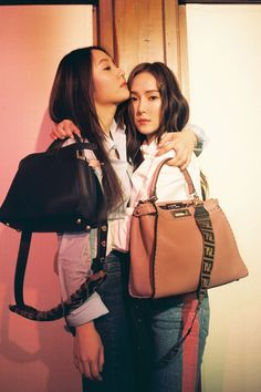 Chapter II: Jessica and Krystal Jung. Jessica & Krystal, Krystal Jung, Jessica Jung, Fendi Designer, Designer Bags, Designer Wear, Bts Girl, Girl Couple, Iconic Women