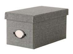 IKEA | Kvarnvik box with lid, Gray