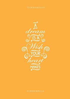 Updated Type Posters on some of the most inspiring disney quotes.