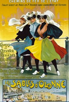 Les Sables d'Olonne  vintage poster G80730
