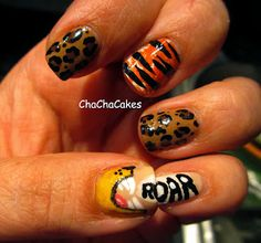 Inspired by a Song- Katy Perry Roar Cha Cha Cakes Nails: Day 22 in the 31 Day Nail Art Challenge
