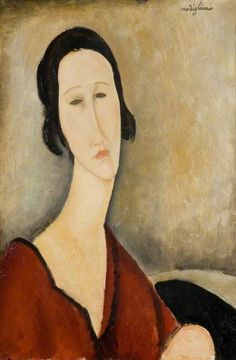amedeo clemente modigliani(1884–1920), madame z, 1918. oil on canvas, 54 x 37.5 cm. birmingham museums trust, uk http://www.bbc.co.uk/arts/yourpaintings/paintings/madame-z-33996