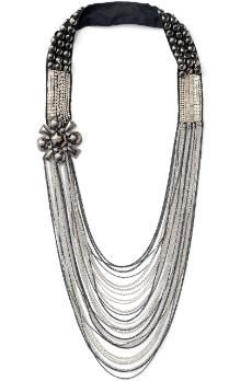 I am so going to rock this necklace next week! Nolita Necklace by Stella & Dot. Cascading antiqued metal chains, delicate cup chain, and hand embroidered metal studs. Pearl Jewelry, Beaded Jewelry, Chunky Jewelry, Jewelry Box, Jewellery, Cool Necklaces, Antique Metal, Victorian Jewelry, Diamond Are A Girls Best Friend