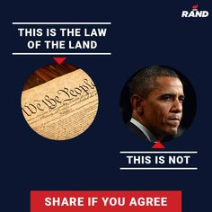 Facebook graphic for Rand Paul, asking fans to share if they agree that the Constitution is the law of the land, not Obama's executive orders. Visit our website to learn more about Harris Media's work in digital marketing, advertising and campaign strategy: www.harrismediallc.com