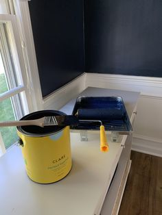 This strong midnight blue hue is dark and alluring like an infinite, moonlit sky. Best Blue Paint Colors, Best Wall Colors, Wall Paint Colors, Bedroom Paint Colors, Paint Colors For Living Room, Midnight Blue Color, Gallon Of Paint, Kitchen Paint Colors