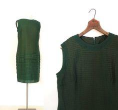 Vintage 1960s Dress / COPPER GREEN Dress / by SmallEarthVintage, $46.00