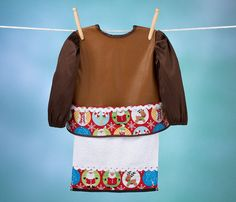 Personalized Bib with Long Sleeves and Lapkin Snow by Bibocks, $29.75