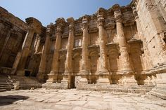 Ruins of Jupiter temple, Baalbek, Lebanon