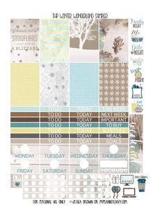 Winter Wonderland Sampler for the Classic Happy Planner on myplannerenvy.com