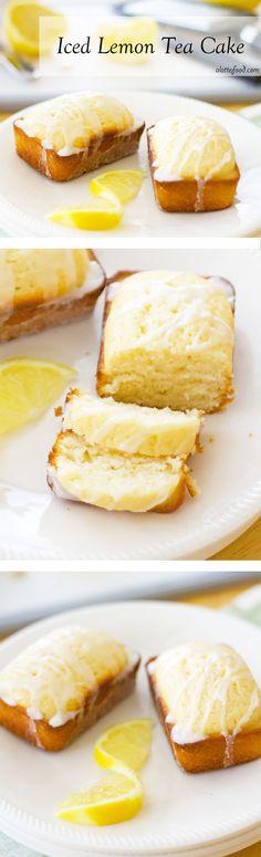 Iced Lemon Tea Cake: This perfect lemon cake tastes like Starbucks's lemon loaf cake–but even better! Iced Lemon Tea Cake For the c flou 13 Desserts, Lemon Desserts, Lemon Recipes, Delicious Desserts, Dessert Recipes, Party Desserts, Summer Desserts, Tea Time Recipes, Brunch Recipes