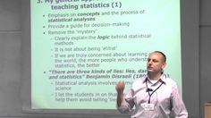 Bob Andersen talks about teaching statistics to social science students This was a free one day workshop for teachers or would-be teachers of quantitative methods for undergraduate sociology and social policy students and also graduate introductory level courses in sociology and social policy. It took place at the Department of Sociology University of Oxford. For slides and further information see http://ift.tt/2d0SbZr and follow the link on the left hand side