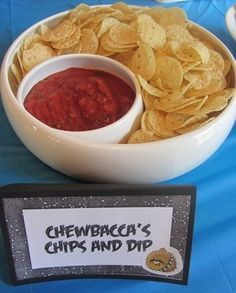 Chewbacca's Chips and Dip - Angry Birds Star Wars - Crafty Party