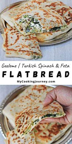 Lunch Box Recipes, Easy Dinner Recipes, Breakfast Recipes, Easy Meals, Turkish Recipes, Asian Recipes, Healthy Recipes, Gozleme Recipe, Turkish Flat Bread