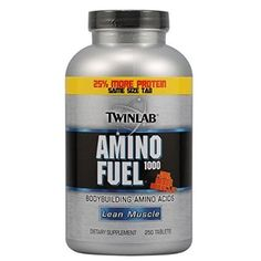 Twinlab Amino Fuel 1000 Body Building Amino Acids, Lean Muscle, 250 Tablets - For Sale Check more at http://shipperscentral.com/wp/product/twinlab-amino-fuel-1000-body-building-amino-acids-lean-muscle-250-tablets-for-sale/