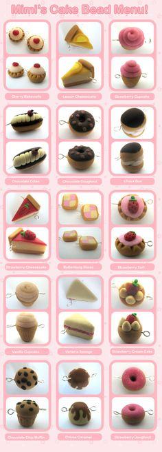 Mimi's Cake Bead Menu by Mimi-Mushroom.deviantart.com on @DeviantArt