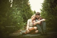 couple at tree farm Christmas Photography, Couple Photography, Engagement Photography, Wedding Photography, Maternity Photography, Photography Poses, Winter Engagement, Engagement Couple, Engagement Pictures
