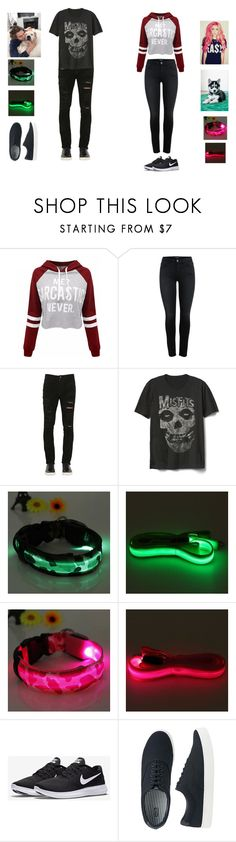"""Scarlet Clifford & Luke Hemmings: Walking Mooka and Petunia"" by ghoul1010 ❤ liked on Polyvore featuring WithChic, Giorgio Brato, Gap, NIKE, Uniqlo and SeptieJaxGhoul"