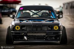 BMW E30 M3 black wide stance