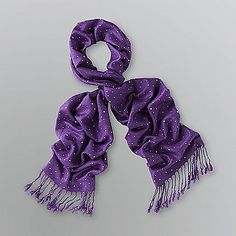 Dream Out Loud by Selena Gomez  Junior's Sparkle Dot Scarf Purple