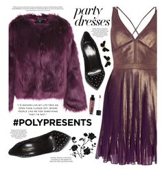 """""""#PolyPresents: Party Dresses"""" by susli4ek ❤ liked on Polyvore featuring Unreal Fur, Yves Saint Laurent, Wet n Wild, Astley Clarke, contestentry and polyPresents"""