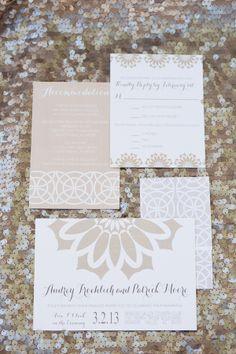 Champagne Wedding Invitations by www.etsy.com/... | photography by www.amyandjordan....