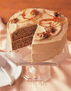 Maple Walnut Cake  Maple syrup isn't just for pancakes. Designed for those who simply can't get enough of the ever-popular flavoring, our Maple Walnut Cake's layers and frosting are both generously doused with this all-American syrup.