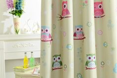 ... New Arrival cartoon window curtain owl design blinds for child room/kindergarten decorative tulle ...