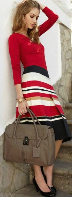 Red + stripes, Travel chic.
