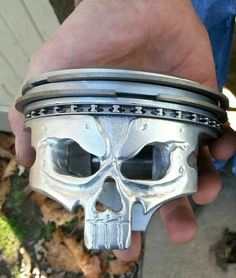 Piston skull hand made by my brother out of Morgans Garage
