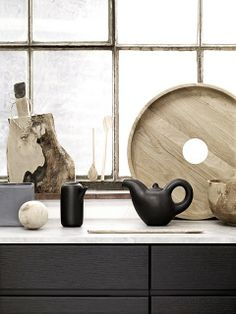 Modern rustic kitchen/cooking tools.