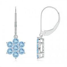Angara Sapphire Dangle Earrings with Diamond Outline IpFyCyiQAR