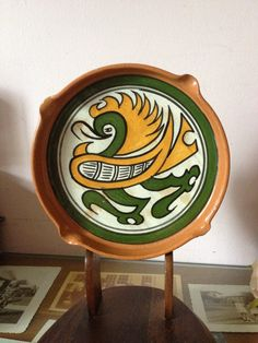 Hey, I found this really awesome Etsy listing at https://www.etsy.com/listing/193142581/vintage-aztec-tray-hand-painted-panama